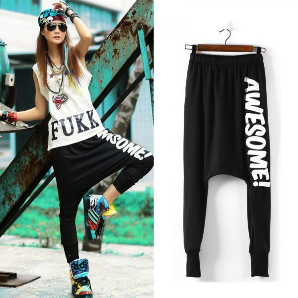 2015 Fashion Women 39 S Harem Pants Casual Sport Sweatpants Baggy Hip Hop Training Dance Street
